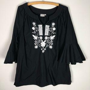 Eshakti Cotton Embroidered Boho Tunic Black 548